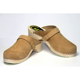 SWEDISH CLOGS GENUINE, SAND NUBUCK