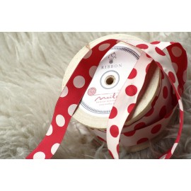 RIBBON DOTS RED - 20 meters - MAILEG