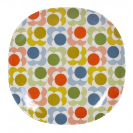 GRANDE ASSIETTE MELAMINE MULTI SHADOW FLOWER ORLA KIELY