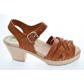 "SWEDISH ""BELT SANDALS"" TAN LEATHER"