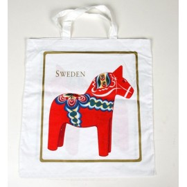 SWEDISH COTTON BAG DALARNA HORSE