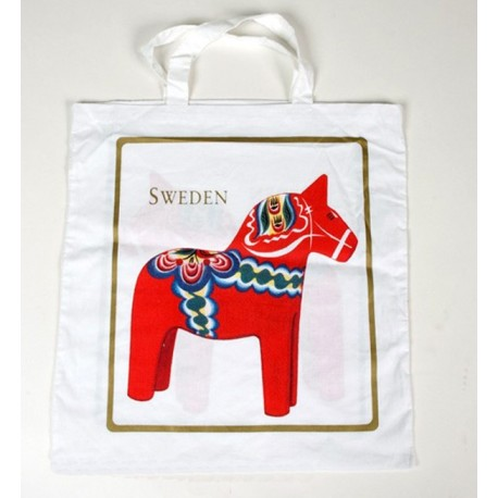 SWEDISH COTTON BAG DALECARLIE HORSE