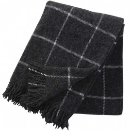 VINGA CHARCOAL WOOL THROW KLIPPAN YLLEFABRIK
