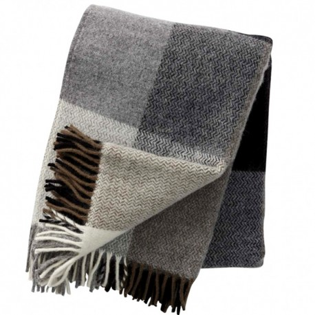 INEZ GREY WOOL THROW KLIPPAN YLLEFABRIK