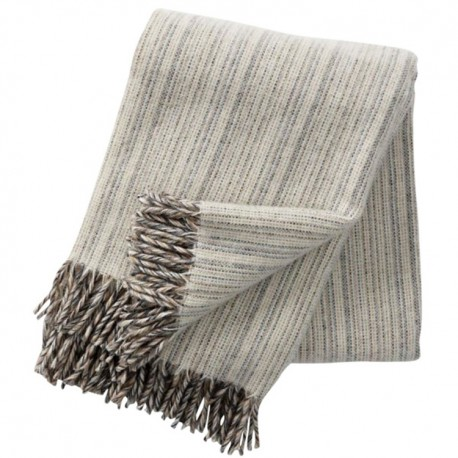 BJORK NATURAL WOOL THROW KLIPPAN YLLEFABRIK