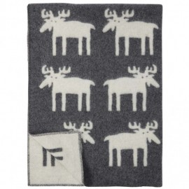 MOOSE THICK WOOL THROW KLIPPAN YLLEFABRIK