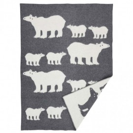 POLAR BEAR THICK LAMBS WOOL THROW KLIPPAN YLLEFABRIK