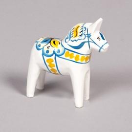 DALARNA WHITE SWEDEN SERIE HORSE 10 CM