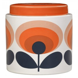 STORAGE JAR 1L 70S FLOWER ORANGE ORLA KIELY
