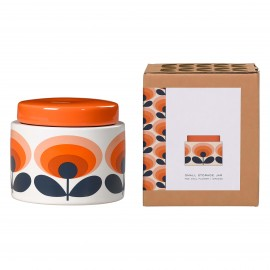 SMALL STORAGE JAR 70 S FLOWER ORANGE ORLA KIELY