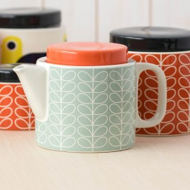 TEA POT LINEAR STEM DUCK EGG BLUE ORLA KIELY