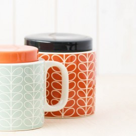 STORAGE JAR 1L LINEAR STEM PERSIMMON ORLA KIELY