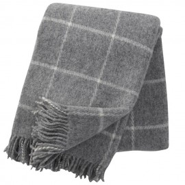 VINGA LIGHT GREY LAMBS WOOL THROW KLIPPAN YLLEFABRIK