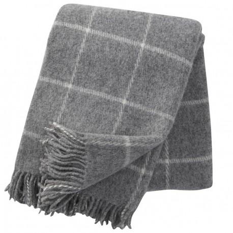 vinga gris clair plaid laine agneau klippan yllefabrik. Black Bedroom Furniture Sets. Home Design Ideas