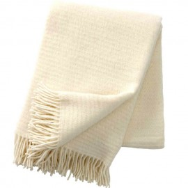 RALPH IVORY ECO LAMBS WOOL THROW KLIPPAN YLLEFABRIK