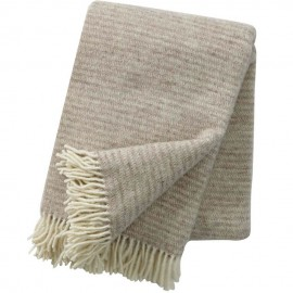 RALPH NATURAL BEIGE ECO LAMBS WOOL THROW KLIPPAN YLLEFABRIK