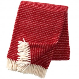 RALPH RED LAMBS WOOL THROW KLIPPAN YLLEFABRIK