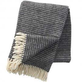 RALPH DARK GREY LAMBS WOOL THROW KLIPPAN YLLEFABRIK