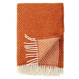 VELVET RUST LAMBS WOOL THROW KLIPPAN YLLEFABRIK