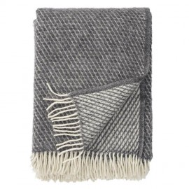 VELVET GREY LAMBS WOOL THROW KLIPPAN YLLEFABRIK
