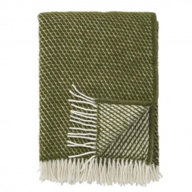 VELVET AVOCADO LAMBS WOOL THROW KLIPPAN YLLEFABRIK