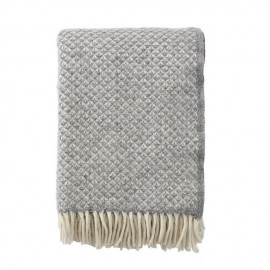 LUXOR STONE LAMBS WOOL THROW KLIPPAN YLLEFABRIK