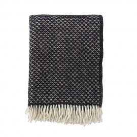 LUXOR BLACK LAMBS WOOL THROW KLIPPAN YLLEFABRIK