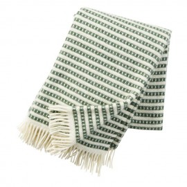 OLLE GREEN ECO LAMBS WOOL THROW KLIPPAN YLLEFABRIK