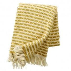 OLLE SAFFRON ECO LAMBS WOOL THROW KLIPPAN YLLEFABRIK