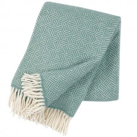 SAMBA MINT LAMBS WOOL THROW KLIPPAN YLLEFABRIK