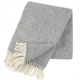 SAMBA GREY LAMBS WOOL THROW KLIPPAN YLLEFABRIK