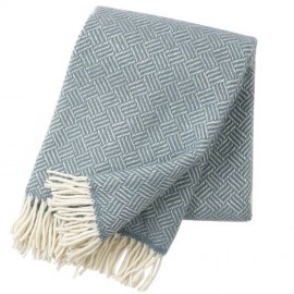 SAMBA LEAD-GREY LAMBS WOOL THROW KLIPPAN YLLEFABRIK