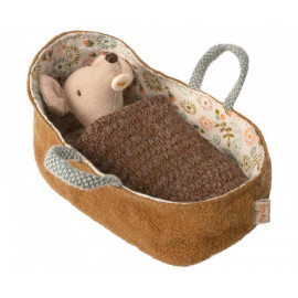 BABY MOUSE IN CARRYCOT MAILEG