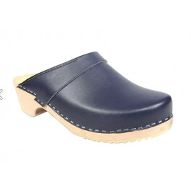 SWEDISH CLOGS GENUINE, BLUE LEATHER