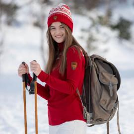 CORTINA HALF ZIP BASIC FEMININE SWEATER DALE OF NORWAY