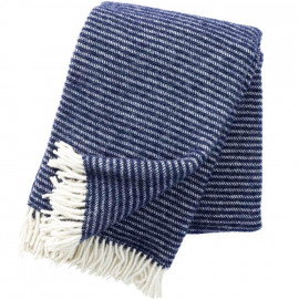 RALPH NAVY ECO LAMBS WOOL THROW KLIPPAN YLLEFABRIK