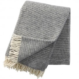RALPH LIGHT GREY LAMBS WOOL THROW KLIPPAN YLLEFABRIK