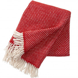 POLKA RED WOOL THROW KLIPPAN YLLEFABRIK