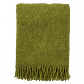 GOTLAND GREEN WOOL THROW KLIPPAN YLLEFABRIK