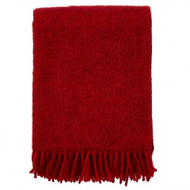 GOTLAND RED WOOL THROW KLIPPAN YLLEFABRIK