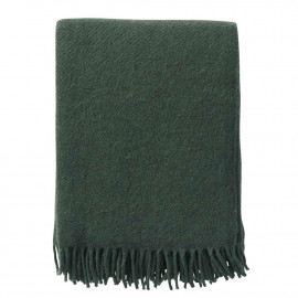 GOTLAND BOTTLE GREEN WOOL THROW KLIPPAN YLLEFABRIK