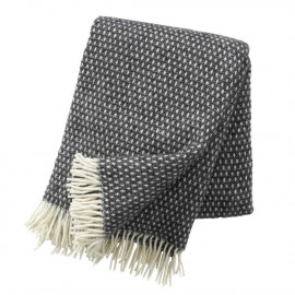 KNUT DARK GREY LAMBS WOOL THROW KLIPPAN YLLEFABRIK