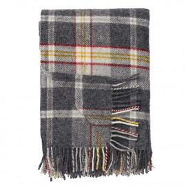 TWEED red LAMBS WOOL THROW KLIPPAN YLLEFABRIK