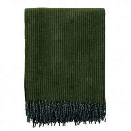 SHIMMER BOTTLE GREEN LAMBS WOOL THROW KLIPPAN YLLEFABRIK