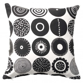 BLACK CUSHION COVER CANDY KLIPPAN BENGT AND LOTTA