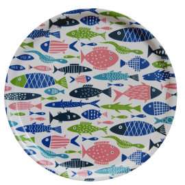 LARGE ROUND TRAY FISH KLIPPAN BENGT AND LOTTA