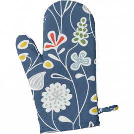 OVEN GLOVE FLOWER MEADOW BLUE KLIPPAN BENGT AND LOTTA