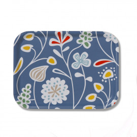 SMALL TRAY FLOWER MEADOW blue KLIPPAN BENGT AND LOTTA