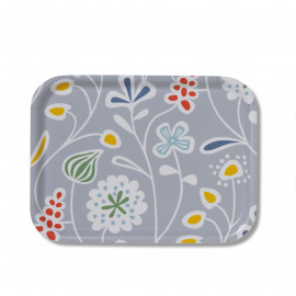 SMALL TRAY FLOWER MEADOW grey KLIPPAN BENGT AND LOTTA