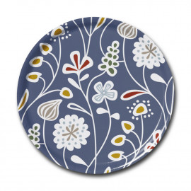 ROUND TRAY FLOWER MEADOW blue KLIPPAN BENGT AND LOTTA